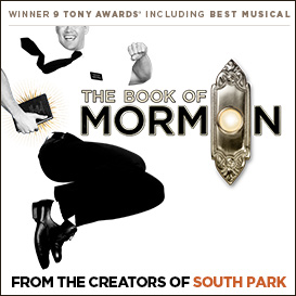 Book Of Mormon with Fiori Corner Meal Meal Package London